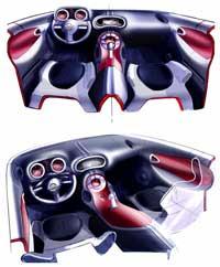 Nissan Juke Interior Design Sketch